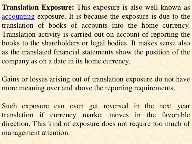 Forex exposure meaning