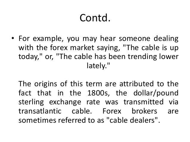 Forex slang terms