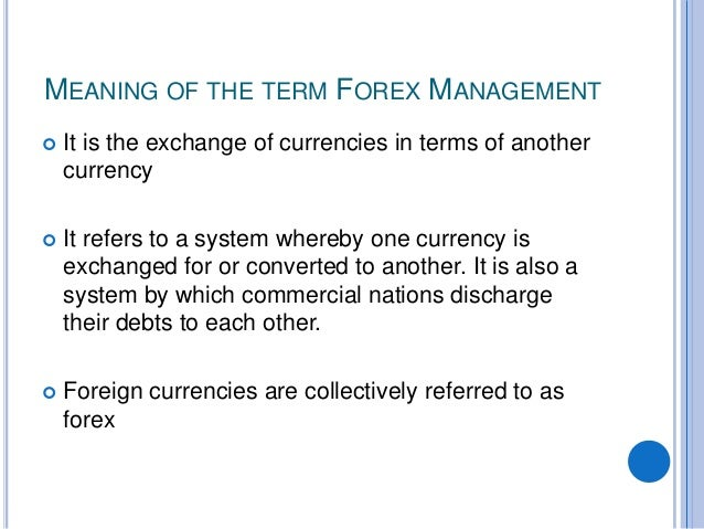 Forex officer means