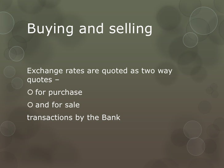 Forex presentation slides