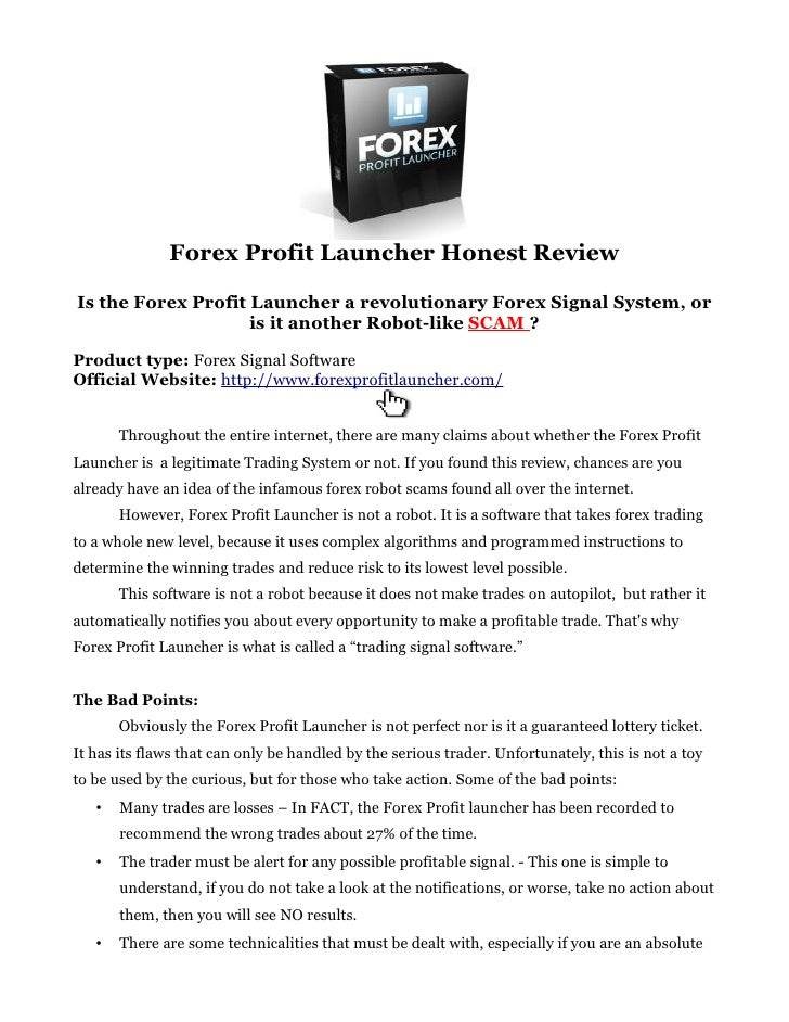 Forex profit launcher trading system