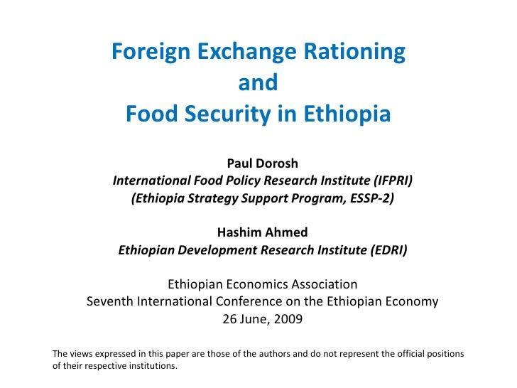 Food security in Ethiopia