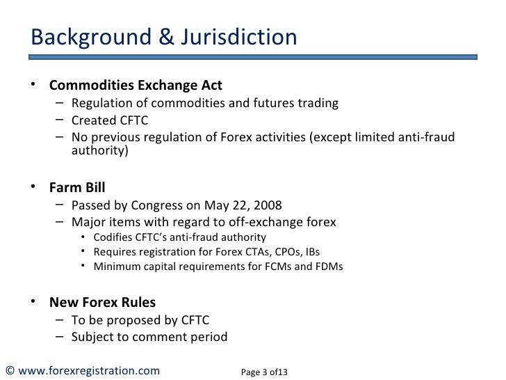 Cftc retail forex definition