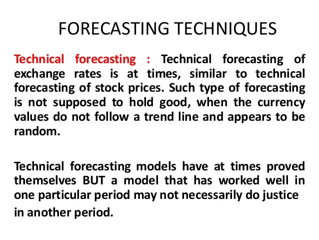 Forex forecasting techniques