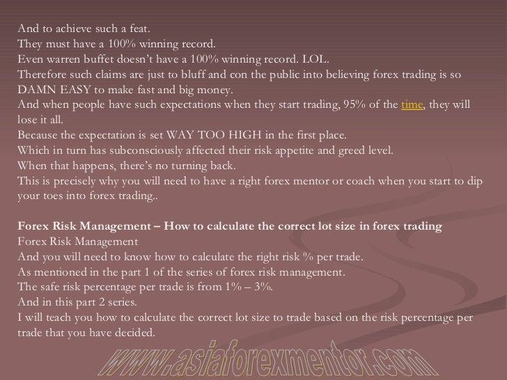 Forex risk per trade