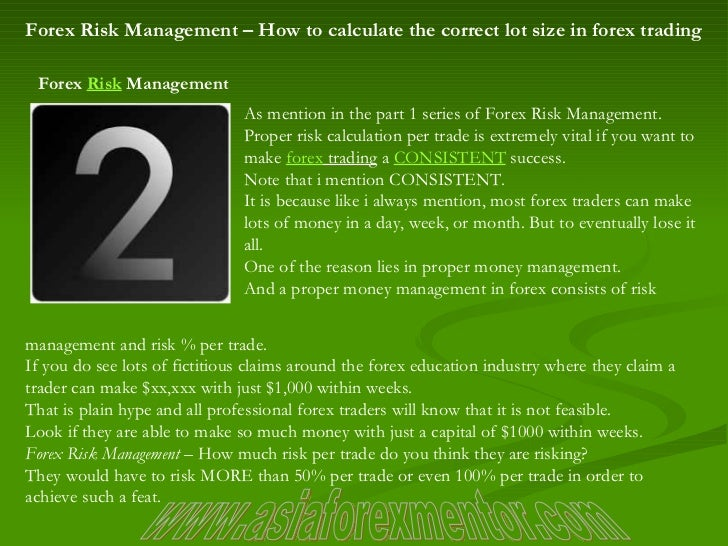 Forex lot size and number of trades risk management