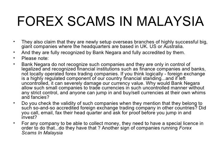 Forex trading malaysia illegal