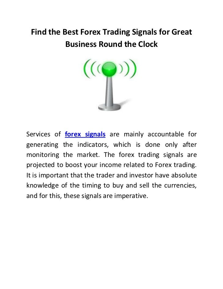Forex signals business