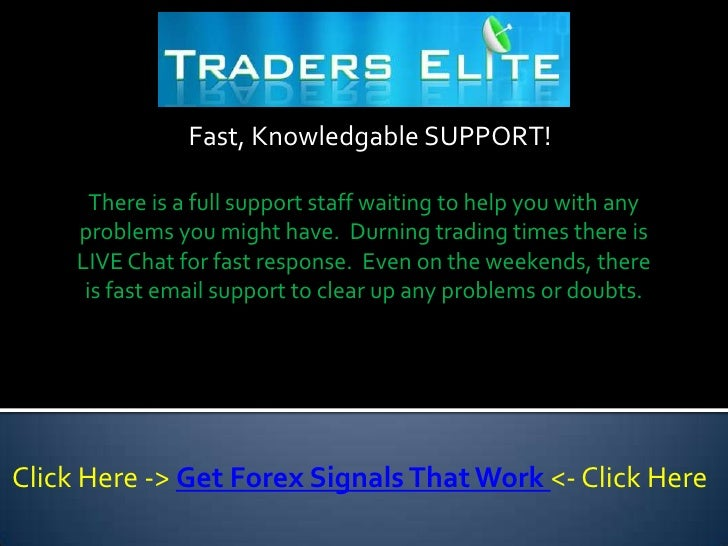 Forex trading signals that work