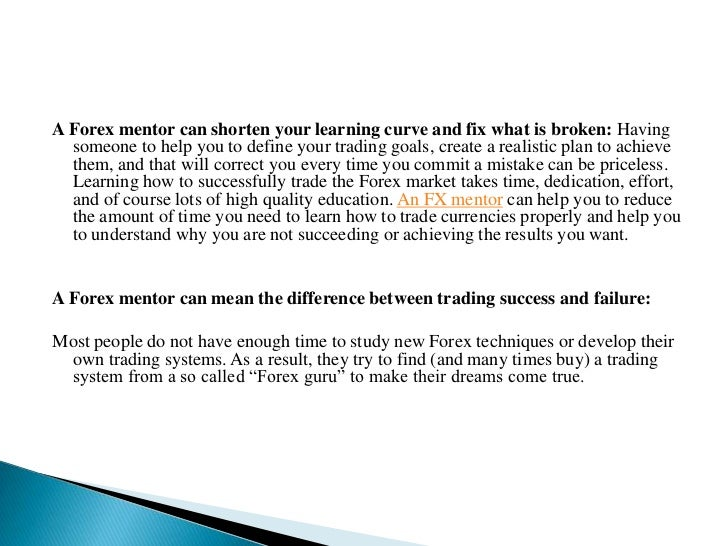 Forex mentor - a working man's position trading system
