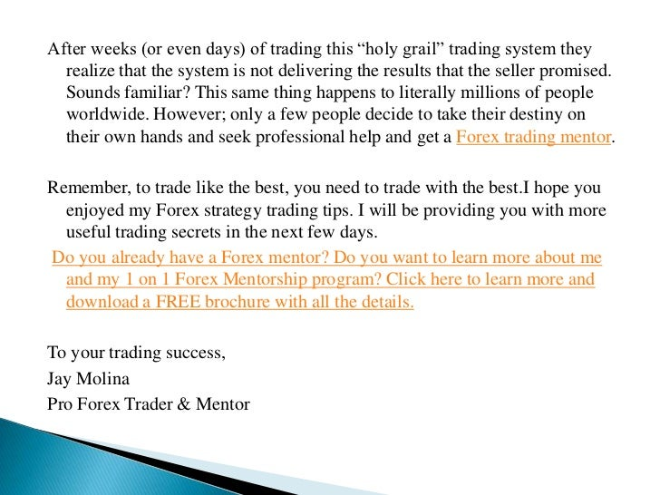 Mentor tips forex