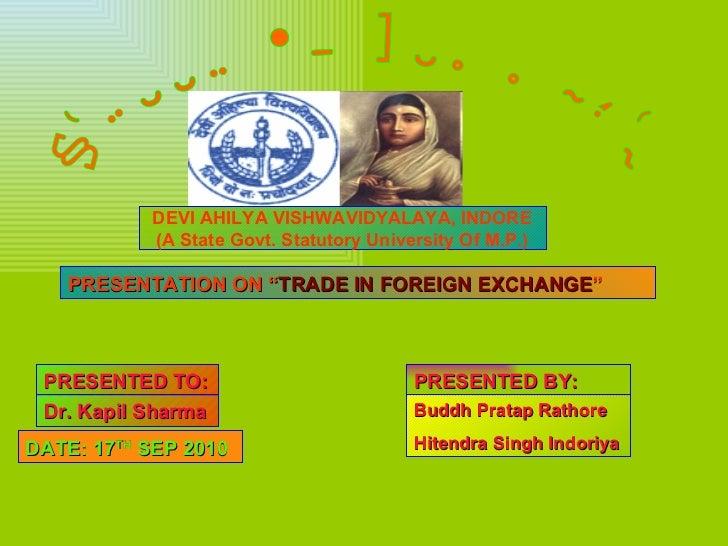 Forex trading slides