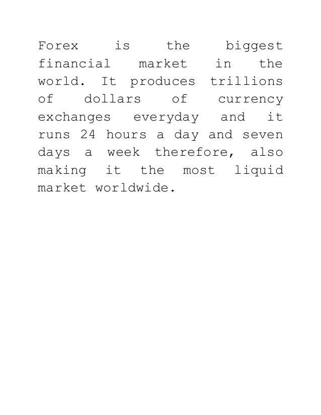 Forex market 101