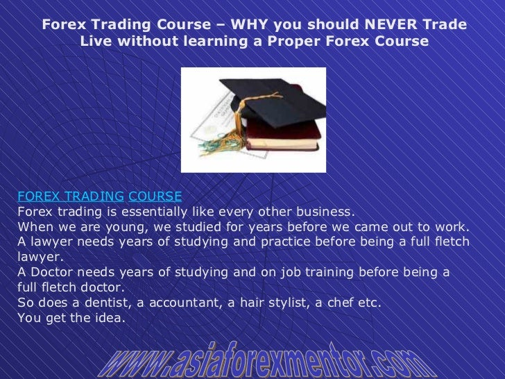 Why you shouldn t trade forex