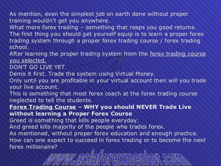 Why should i trade forex