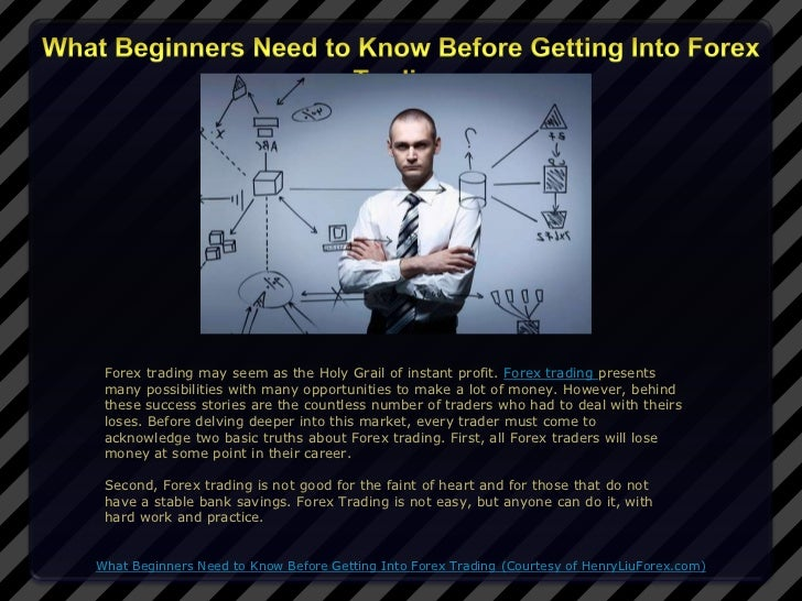 Forex trading may seem as the Holy Grail of instant profit. Forex trading presents many possibilities with many opportunit...
