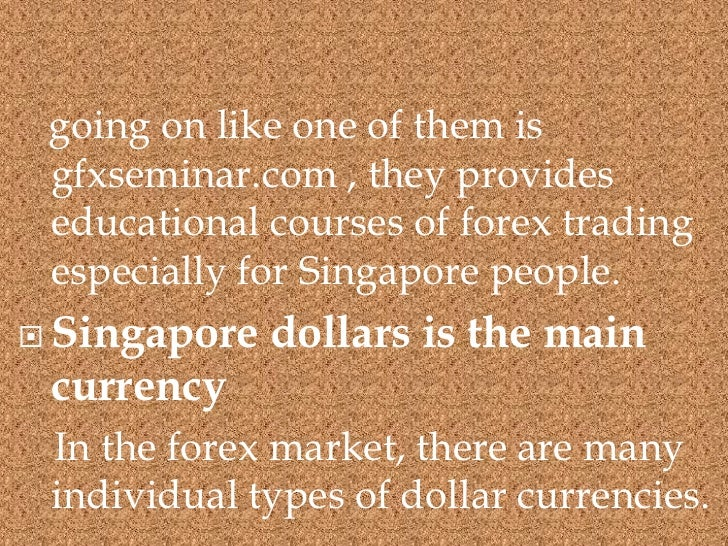 Forex trading schools singapore