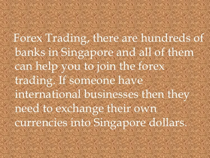 Forex trading singapore