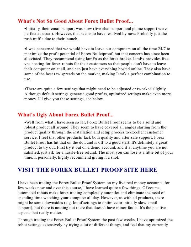 Forex bulletproof review