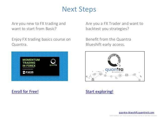 Forex Trading Strategies and Backtesting Techniques using Quantra Blu…