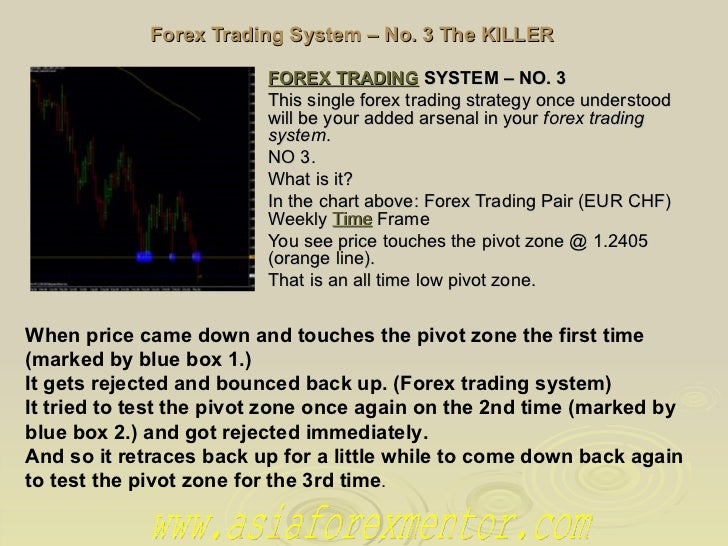Forex Trading System – No. 3 The KILLER FOREX TRADING SYSTEM– NO. 3   This single forex trading strategy once understood...