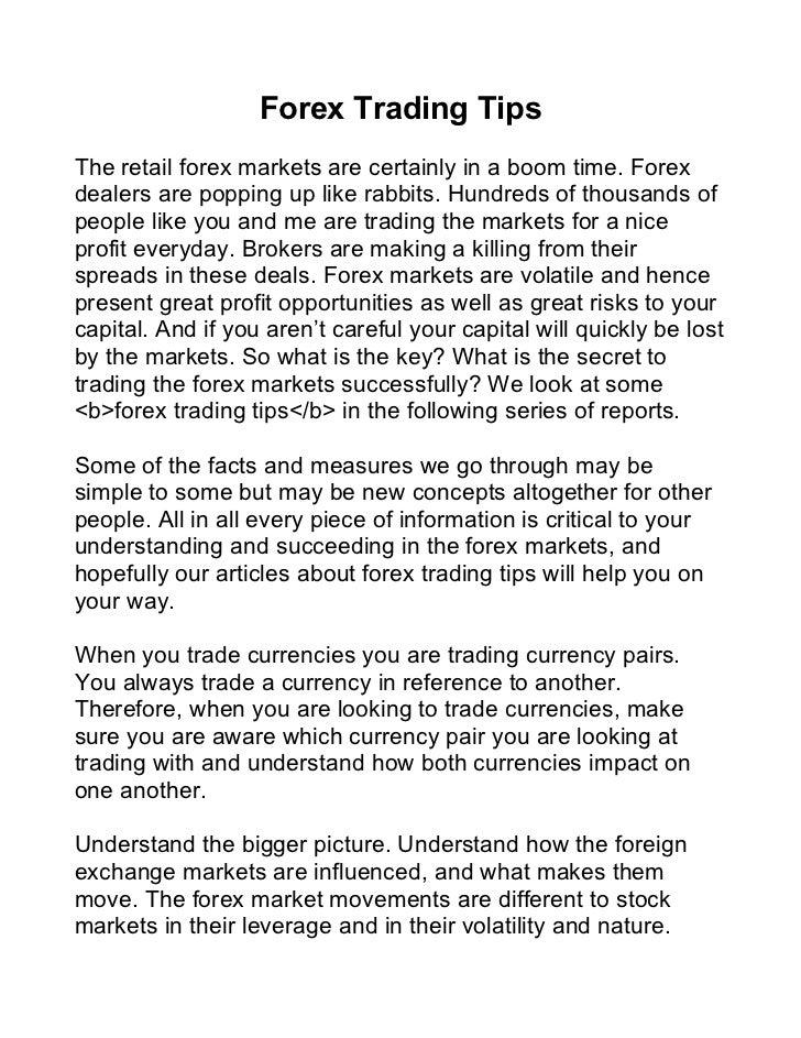 Fundamentals of forex trading pdf
