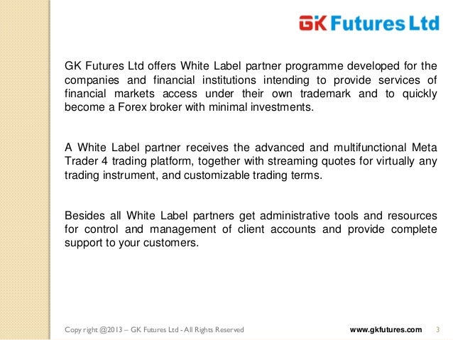 Forex white label solutions