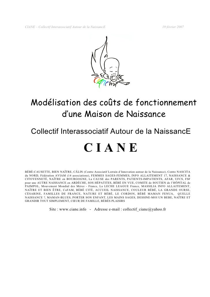 CIANE – Collectif Interassociatif Autour de la NaissancE                                     19 février 2007        Modéli...