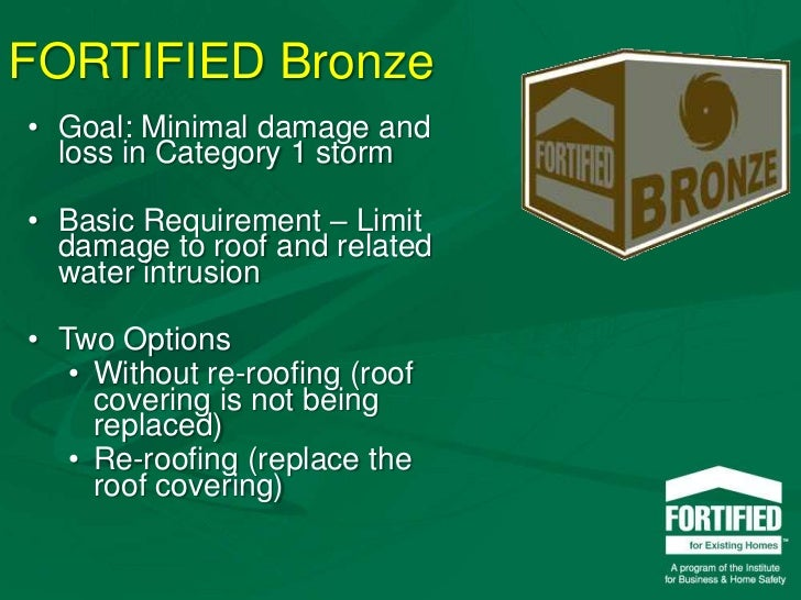 Fortified For Existing Homes
