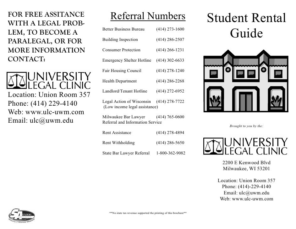 FOR FREE ASSITANCE             Referral Numbers                                                  Student Rental WITH A LEG...