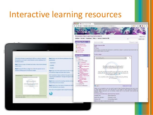 Interactive learning resources