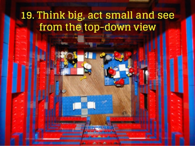 19. Think big, act small and see from the top-down view