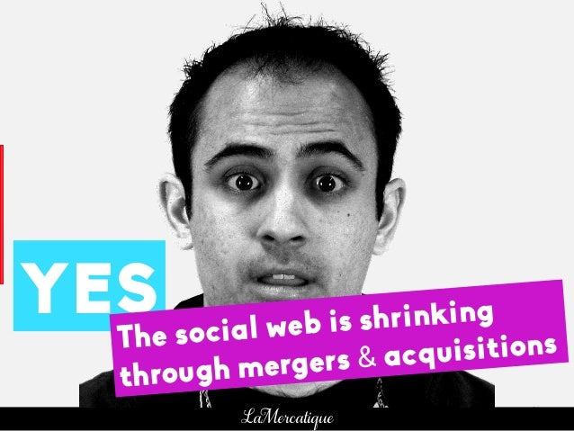 31 LaMercatique YES The social web is shrinking through mergers & acquisitions