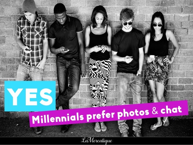 32 LaMercatique YES Millennials prefer photos & chat MILEYCYRUS