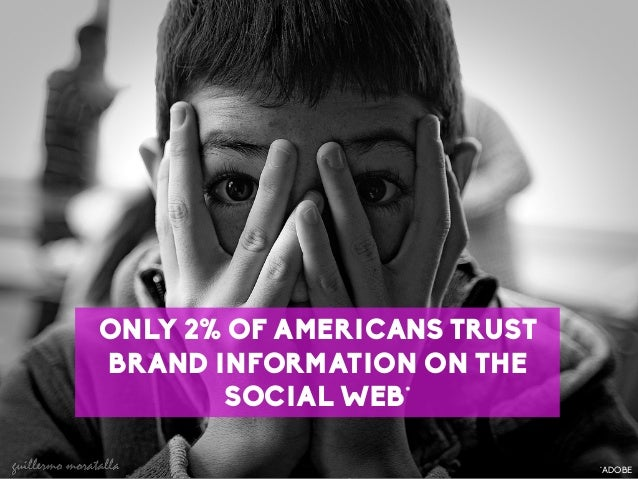 61 LaMercatique ONLY 2% OF AMERICANS TRUST BRAND INFORMATION ON THE SOCIAL WEB* *ADOBE