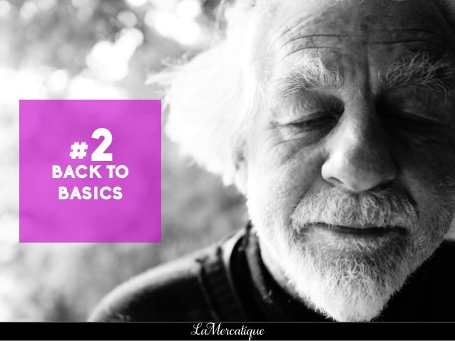 82 LaMercatique BACK TO BASICS #2