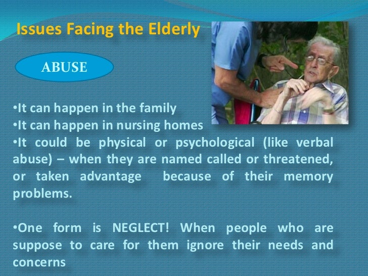 elder abuse 3 essay The journal of elder abuse & neglect is devoted to publishing articles on the causes, effects, treatment, and prevention of the mistreatment of older pread more here.