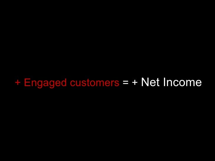 + Engaged customers  = +  Net Income