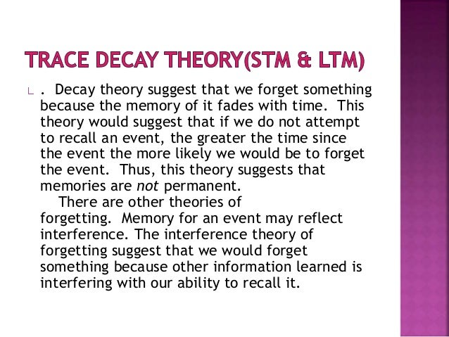 theories of forgetting in psychology