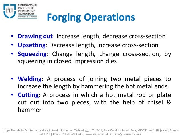 Manufacturing Processes - Forging
