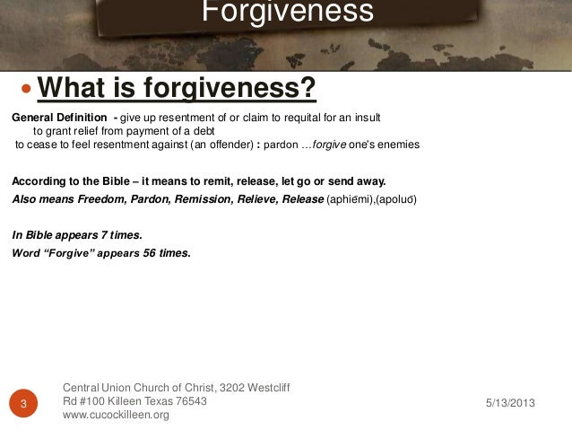 the art of forgiveness But forgiveness is really a process with specific steps toward the goal of forgiveness fr ramond carey, phd, is a priest of the archdiocese of portland he has taught at both the secondary and university levels, and currently teaches and mt angel seminary's graduate school of theology.
