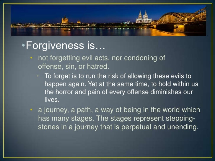 Forgiveness essays english