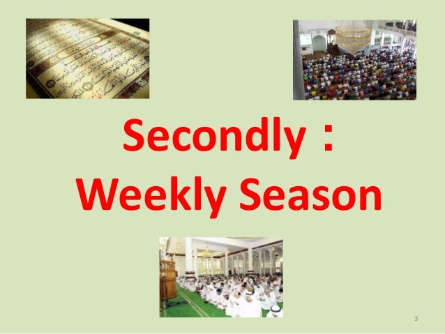 Secondly : Weekly Season 3