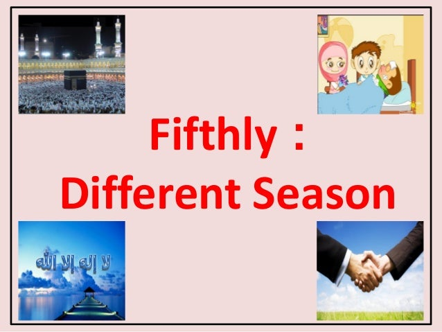 Fifthly : Different Season 3