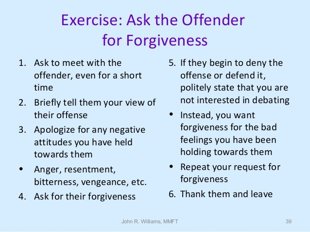 Ways to ask for forgiveness