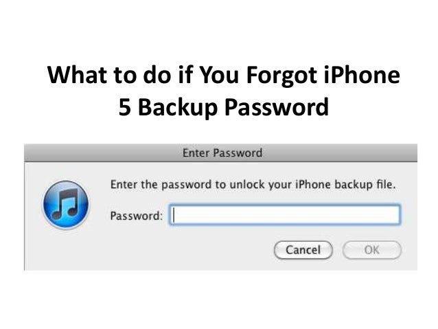 lost iphone backup password what to do if you forgot iphone 5 backup password 5338