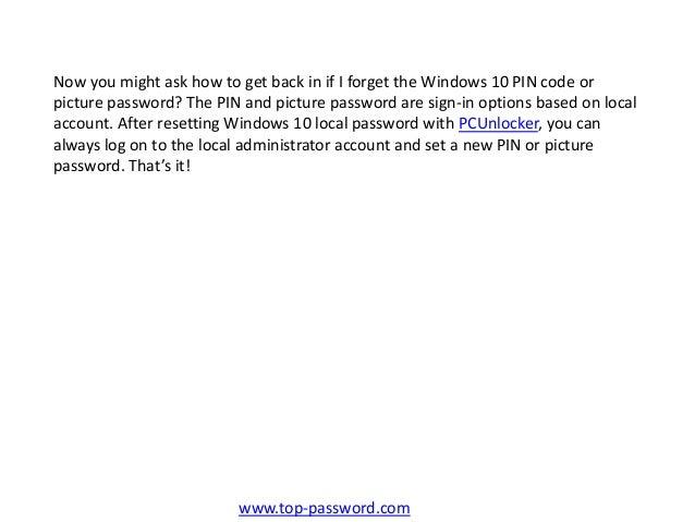 Forgot Admin Password Windows 10 No Reset Disk
