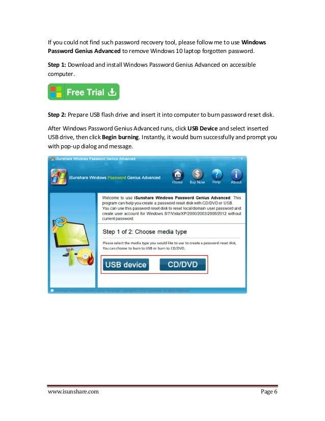 Forgot Laptop Password Windows 10 No Reset Disk
