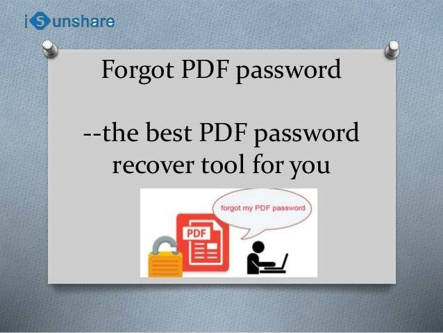 forgot my pdf password