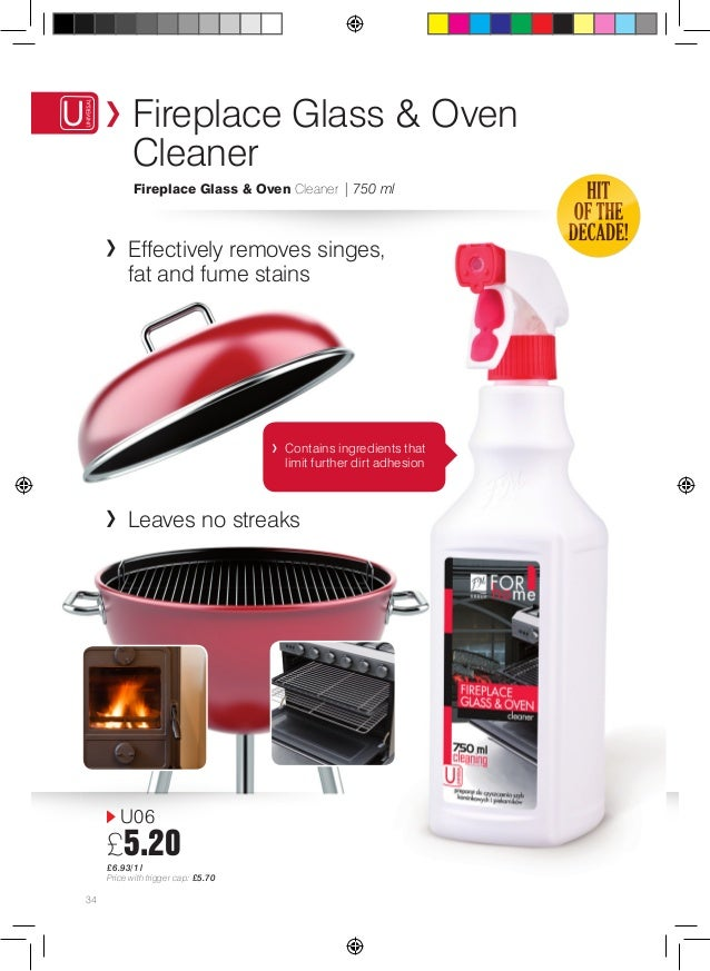 Fireplace glass /& oven cleaner